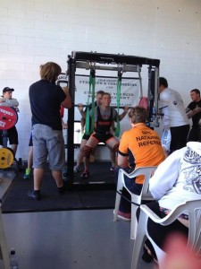 Nick Viner squatting in one of his attempts for the GPC Nationals Qualifier to be held in June
