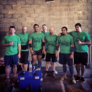 The Strongman Saturdays training group at the Queensland Strongman Series Round 3