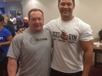 Coco with Ed Coan at the GPC National Powerlifting titles 2014