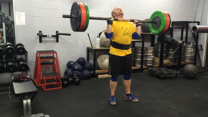 strongman technique - axle continental press - at Coco's Gym, Bundall