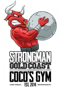 A new logo created for the Strongman Training group at Coco's Gym, Strongman Gold Coast