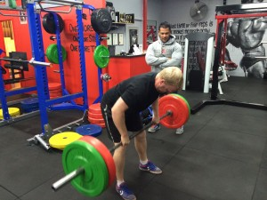 Coco's Gym personal training, bent over row