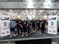 The competitors after the competition has finished for the Brisbane Fitness Expo Strongest Man 2014