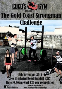 GOLD COAST STRONGMAN CHALLENGE November, 16th 2014