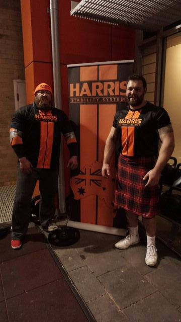 Mike Jones and Ben Simpson. Top Australian Strongman competitors, supported by Harris Stability Systems