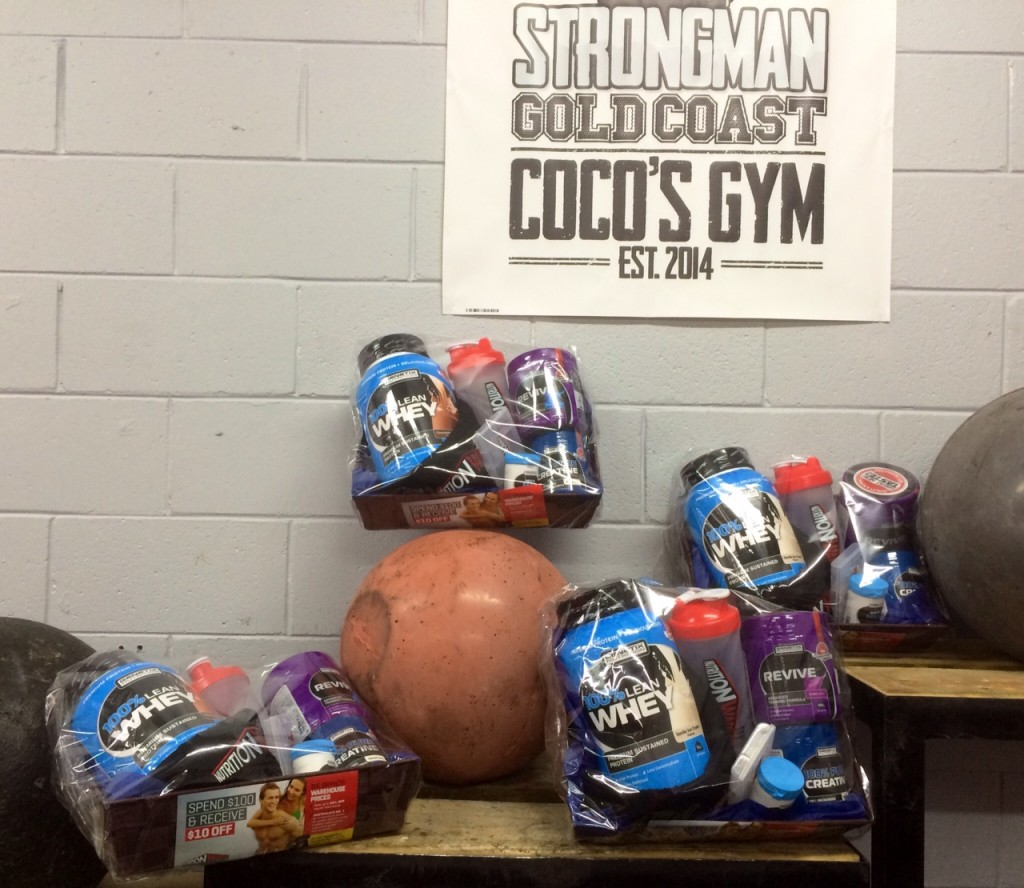 Nutrition Warehouse Sponsor Package for the Gold Coast Strongman Challenge