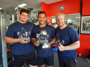 Alex and Coco with their 2014 Queensland Strongman Series trophies