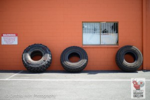 Tyres for training at Strongman Gold Coast and Cocos Gym