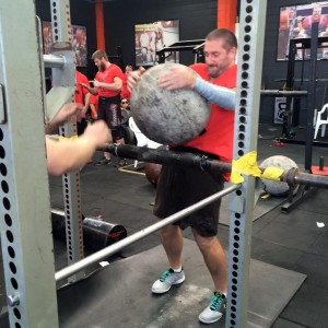March member of the month Jason lifting stone