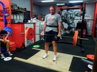 March member of the month Jason deadlifting